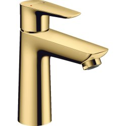 Baterii de baie Baterie lavoar Hansgrohe Talis E 110, ventil pop-up, gold optic lustruit