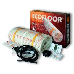 Incalzire pardoseala Kit covoras Ecofloor + termostat digital TFT pentru suprafata de 7,6 mp