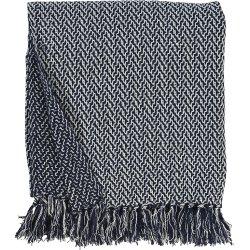 Textile decorative Pled Sander Beat 130x170cm, 4 albastru navy