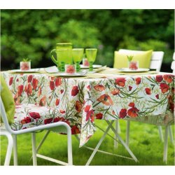 Textile decorative de masa Fata de masa Sander Garden Bistro Alvor 135x170cm, acoperire acrylica, 01 Red