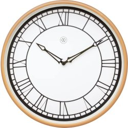 Produse Noi Ceas de perete NeXtime Kyle 30cm, alb-roz