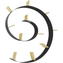 Mobilier Biblioteca Kartell Bookworm, design Ron Arad, 11 rafturi, 520cm, negru-auriu