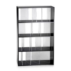 Comoda Kartell Sundial design Nendo, 100x165x37cm, negru-transparent