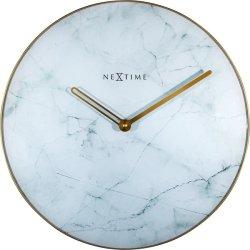 Default Category SensoDays Ceas de perete NeXtime Marble 40cm, alb