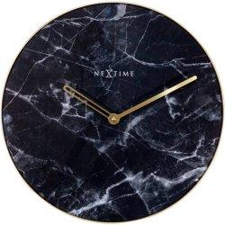 Cadouri pentru cei dragi Ceas de perete NeXtime Marble 40cm, negru