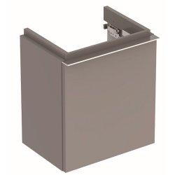 Mobilier de baie Dulap baza Geberit iCon 37cm cu o usa gri platin lucios