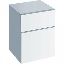Mobilier de baie Dulap suspendat Geberit iCon 45x60x47.7cm cu doua sertare, alb lucios