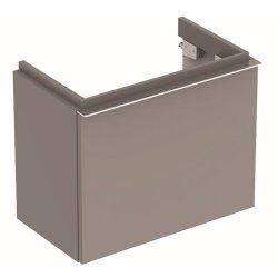 Dulap baza Geberit iCon 52cm cu un sertar, gri platin lucios