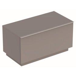 Mobilier de baie Dulap pe pardoseala Geberit iCon 89x47.2x47.7cm cu un sertar, gri platin lucios