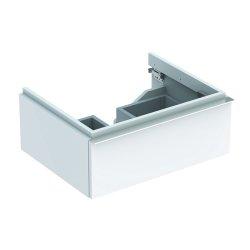 Dulapuri si blaturi pentru lavoare baie Dulap baza Geberit iCon 59.5cm cu un sertar, alb lucios