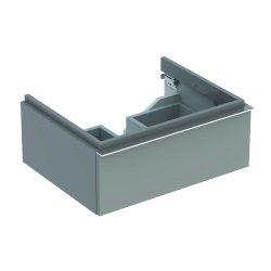 Mobilier de baie Dulap baza Geberit iCon 59.5cm cu un sertar, gri platin lucios