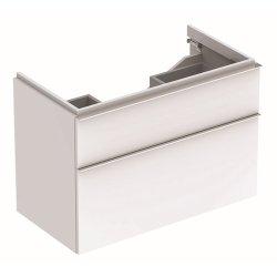 Dulap baza Geberit iCon 89cm cu doua sertare, alb lucios