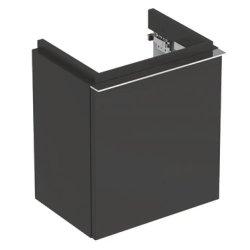 Mobilier de baie Dulap baza Geberit iCon 37cm cu o usa negru lava mat
