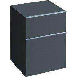 Mobilier de baie Dulap suspendat Geberit iCon 45x60x47.7cm cu doua sertare, negru lava mat