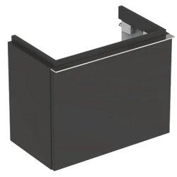 Mobilier de baie Dulap baza Geberit iCon 52cm cu un sertar, negru lava mat
