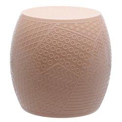 Canapele & Fotolii Taburet Kartell Roy design Alessandro Mendini, h43cm, d45cm, roz pudra