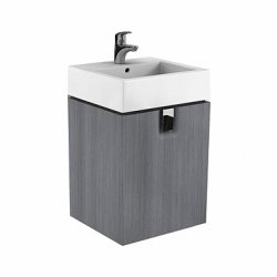 Dulap baza Kolo Twins 50cm, un sertar, gri argintiu