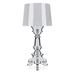 Veioza Kartell Bourgie design Ferruccio Laviani, E14 max 3x28W, d37cm, argintiu metalizat