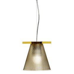 Iluminat electric Suspensie Kartell Light Air design Eugeni Quitllet, d14cm, ambra