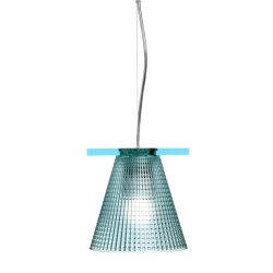 Iluminat electric Suspensie Kartell Light Air design Eugeni Quitllet, d14cm, bleu