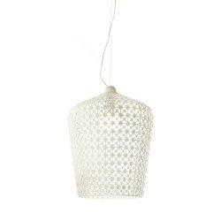 Suspensie Kartell Kabuki design Ferruccio Laviani, LED 15W, h73-268cm, alb