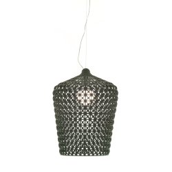 Pendule & Suspensii Suspensie Kartell Kabuki design Ferruccio Laviani, LED 15W, h73-268cm, negru