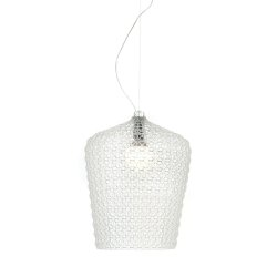 Iluminat electric Suspensie Kartell Kabuki design Ferruccio Laviani, LED 15W, h73-268cm, transparent