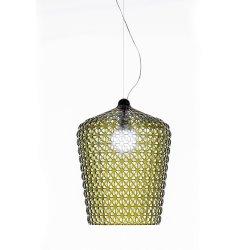 Pendule & Suspensii Suspensie Kartell Kabuki design Ferruccio Laviani, LED 15W, h73-268cm, verde transparent