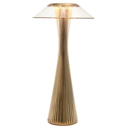 Veioze & Lampadare Veioza Kartell Space design Adam Tihany, LED, 15x30cm, auriu metalizat