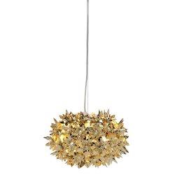 Pendule & Suspensii Suspensie Kartell Bloom design Ferruccio Laviani, G9 max 3x33W, d28cm, auriu metalizat