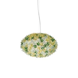 Suspensie Kartell Bloom design Ferruccio Laviani, G9 max 6x33W, d53cm, menta