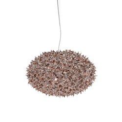 Suspensie Kartell Bloom design Ferruccio Laviani, G9 max 6x33W, d53cm, bronz metalizat
