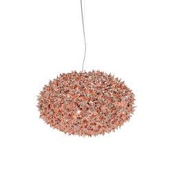 Suspensie Kartell Bloom design Ferruccio Laviani, G9 max 6x33W, d53cm, cupru metalizat