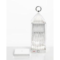 Iluminat electric Lampa portabila de exterior Kartell Lantern design Fabio Novembre, 1,2W LED, transparent