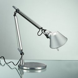 Veioza Artemide Tolomeo Micro Tavolo design Michele De Lucchi , Giancarlo Fassina, LED 9.6W, aluminiu