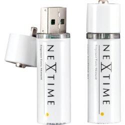 Produse Noi Set 2 acumulatori Li-Ion tip AA NeXtime USB, alb