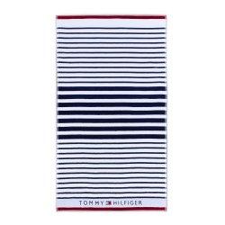 Cadouri pentru cei dragi Prosop de plaja Tommy Hilfiger Navy Striped 100x180cm, Albastru Navy