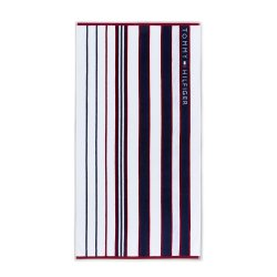 Prosoape de plaja Prosop de plaja Tommy Hilfiger Red and Blue Striped 100x180cm, Albastru Navy