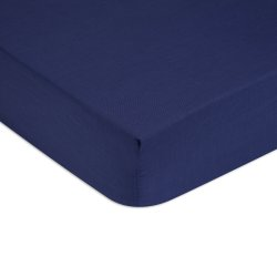 Cearceaf de pat cu elastic Tommy Hilfiger Unis Satin 160x200cm, Albastru Navy