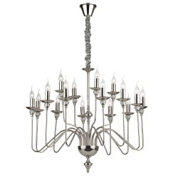 Candelabre & Lustre Lustra Ideal Lux Artu SP16, 16x40W, h 98-180cm, crom
