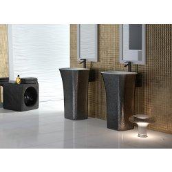 Lavoare baie Lavoar pe pardoseala Besco Assos Glam 40x50x85cm, compozit mineral, Graphite