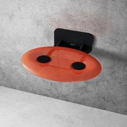 Accesorii baie Scaun pliabil pentru dus Ravak Ovo P II Orange-Black, max 150kg, portocaliu translucid