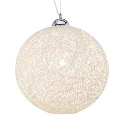 Iluminat electric Suspensie Ideal Lux Basket SP1 D40, 1x60W, 40x40-160cm, alb