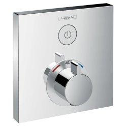 Baterii dus Baterie dus termostatata Hansgrohe ShowerSelect cu 1 functie, montaj incastrat, necesita corp ingropat