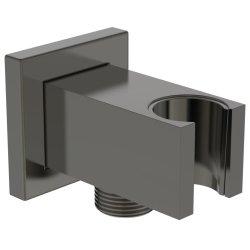Pare si furtunuri de dus Conector FixFit Ideal Standard Ideal Rain Square cu agatatoare de dus, gri magnetic