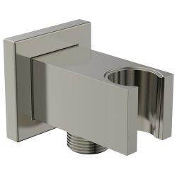 Pare si furtunuri de dus Conector FixFit Ideal Standard Ideal Rain Square cu agatatoare de dus, silver storm