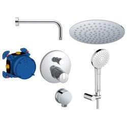 Sisteme de dus incastrate Sistem de dus incastrat termostatat Ideal Standard Ceratherm IdealRain Evo cu 2 consumatori