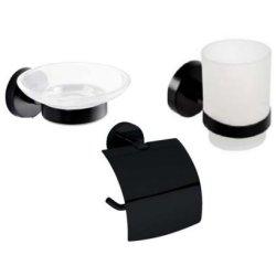 Seturi accesorii baie Set accesorii baie Bemeta Dark 3 piese