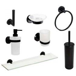 Seturi accesorii baie Set accesorii baie Bemeta Dark 7 piese