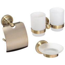 Default Category SensoDays Set accesorii baie Bemeta Retro 3 piese, bronz